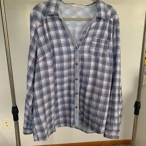 Maurices Plaid Button Down Shirt